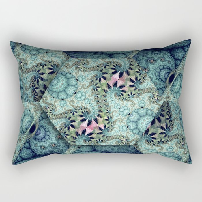 Amazing patterns in cubes and orbs Rectangular Pillow