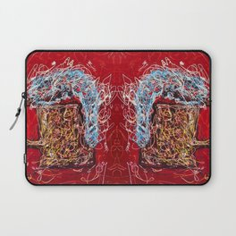 Abstract Beer - Inspired By Pollock  #society6 #wallart #buyart by Lena Owens @OLena Art Laptop Sleeve