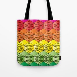 Tetra Hexa Spectrum Tote Bag