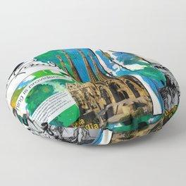 Antoni Gaudi Floor Pillow