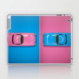 Cars Story - Pink on Blue & Reverse Laptop & iPad Skin