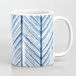 Shibori Herringbone Pattern Coffee Mug