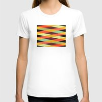 diamonds T-shirts featuring multicolor diamond pattern by Gary Andrew Clarke