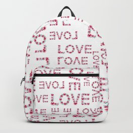 Modern pink teal love floral typography romantic valentines Backpack