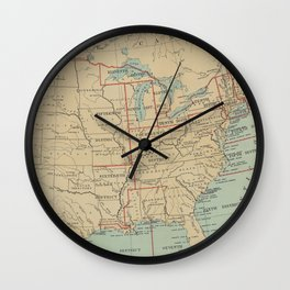 Vintage United States Lighthouse Map (1898) Wall Clock
