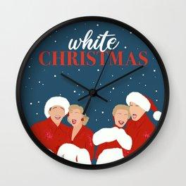 White Christmas Movie Poster, Minimalist Movie Print, Holiday Art Decor Wall Clock