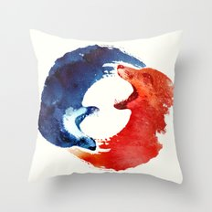 Ying yang Throw Pillow