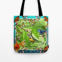 Birdy & Fishy spring blue Tote Bag