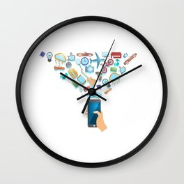 One Click Away From Everything Wall Clock