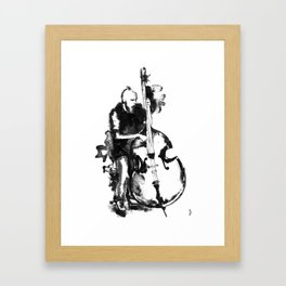 Jazz Contrabass Framed Art Print