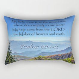 Psalms 121:1-2 Rectangular Pillow