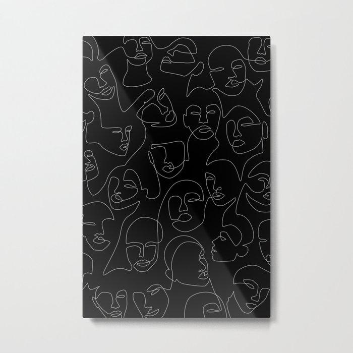 Face Lace Metal Print