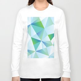 Ice Shards abstract geometric angles pattern Long Sleeve T-shirt