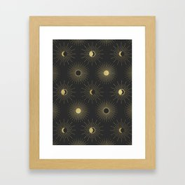 Moon and Sun Theme Framed Art Print