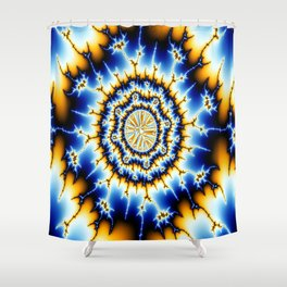 Electric Geode Shower Curtain