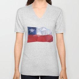 CHILE FLAG  Unisex V-Neck