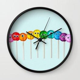 Lollipop Rainbow Wall Clock