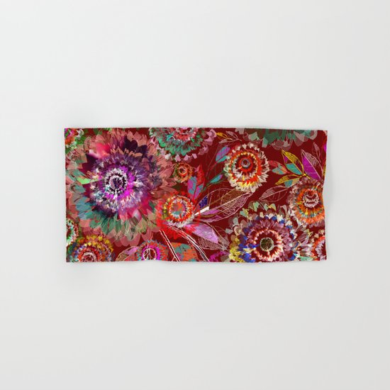 Floral abstract(54) Hand & Bath Towel