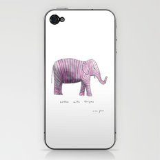 better with stripes iPhone & iPod Skin