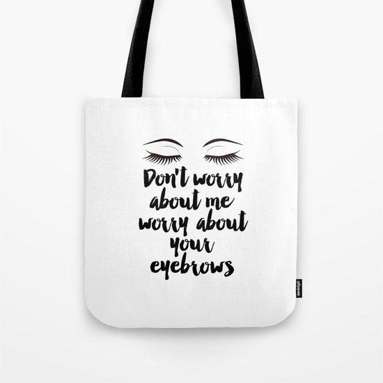 Beauty Room Decor,Eyebrows on Fleek, Makeup Printable, Beauty Printable,Eyelash Print, Makeup Tote Bag