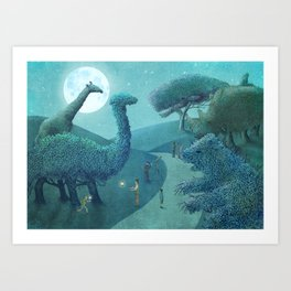 Topiary Park - Night Art Print