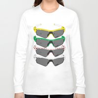 tour de france Long Sleeve T-shirts featuring Tour de France Glasses by Pedlin