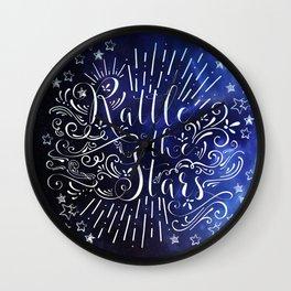 Rattle The Stars - Blue Wall Clock