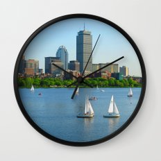 Boston in the Summer Wall Clock