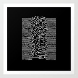 Joy Division - Unknown Pleasures Art Print