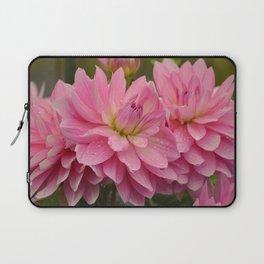 Fresh Rain Drops - Pink Dahlia Laptop Sleeve