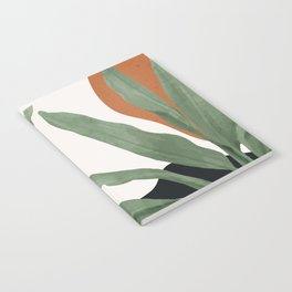 Abstract Art Tropical Leaves 10 Notebook
