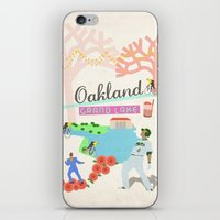 oakland iPhone & iPod Skins featuring Oakland by June Chang Studio
