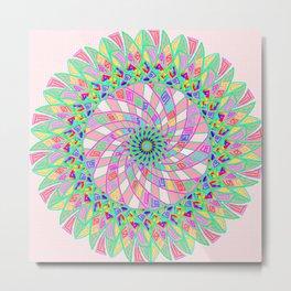 Pink funnel Metal Print