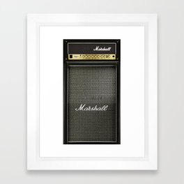 Gray amp amplifier Framed Art Print