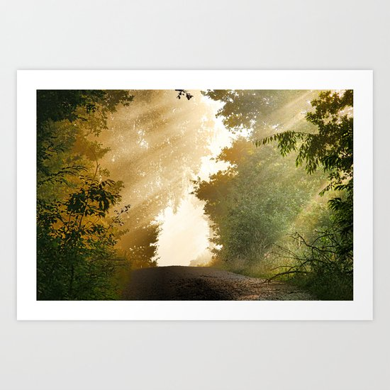 away-nature Art Print