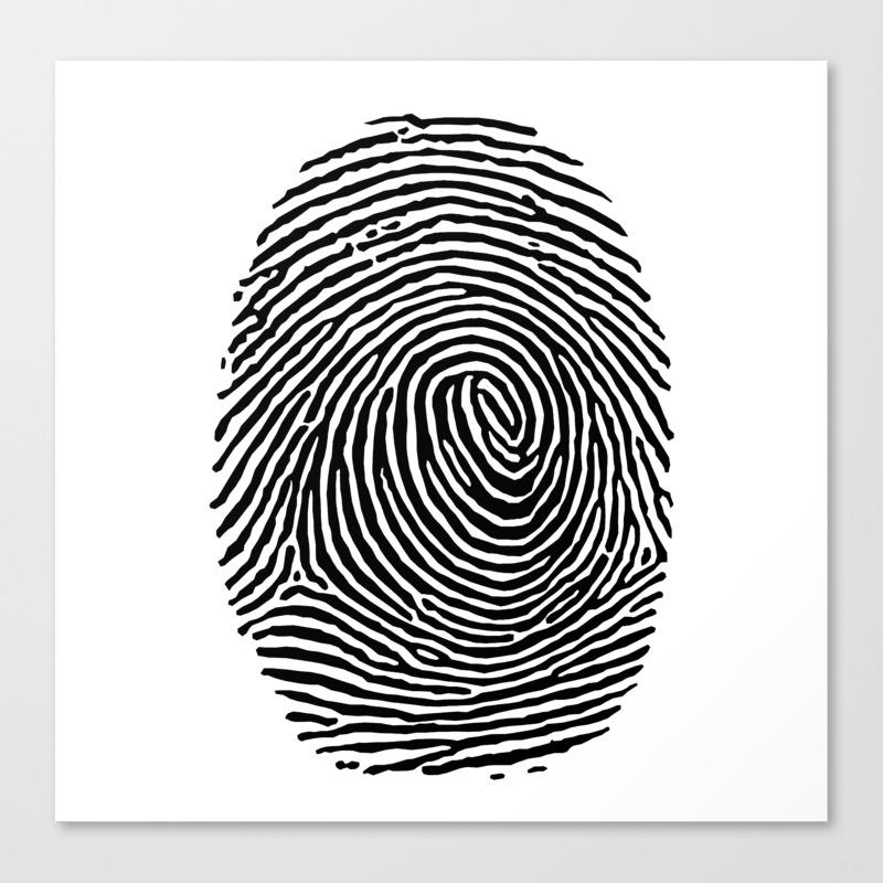 Fingerprint Csi Crime Scene Canvas Print By Closeddoor Society6