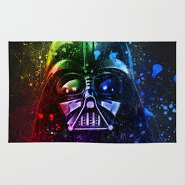 Darth Vader Splash Painting Sci-Fi Fan Art Rug