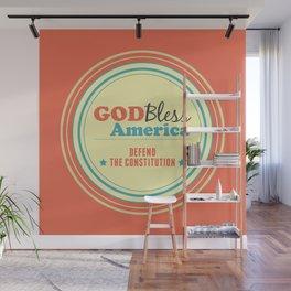 God Bless America Wall Mural