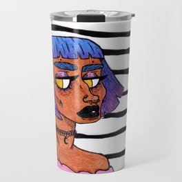 Bubblegum Black Travel Mug