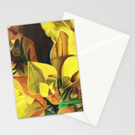 Golden Gorse Flowers Stationery Cards