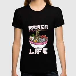 Ramen Life - Japanese Anime Cats T-Shirt T-shirt