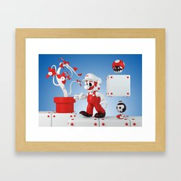 Superskull Fire Mario Framed Art Print