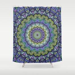 Purple n' Green Machine - Mandala Art Shower Curtain