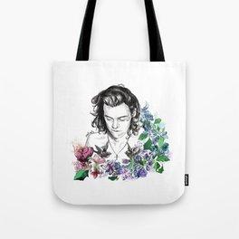 Flower Jesus Tote Bag