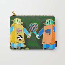 Tennis Robot with Racquet No. 2 Carry-All Pouch