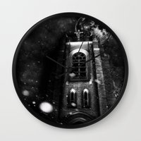 sin city Wall Clocks featuring Sin City by kidkyngstyle