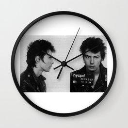 Sid Vicious Mugshot  Wall Clock