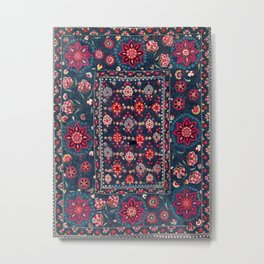 Lakai Suzani Shakhrisyabz Uzbek Embroidery Print Metal Print