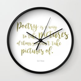 """Poetry"" Ornate Wall Clock"