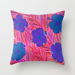 Pink Hawaii Dreams Throw Pillow